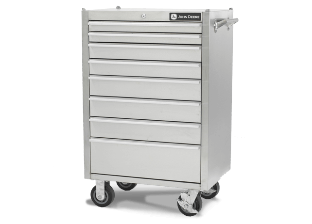 AC-4100TC-B 41-in., 12-Drawer Stainless Steel Tool Cabinet