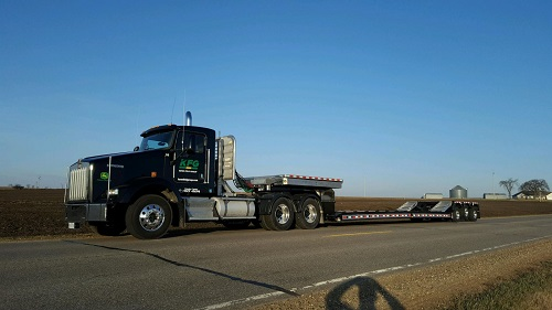 semi hauling, large agriculture hauling